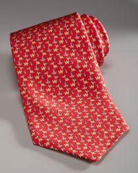 Ferragamo | Camel & Cactus Tie, Red for Men | Lyst