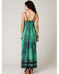 Free People - Green Fp One Tie Dye Sunburst Maxi Dress - Lyst
