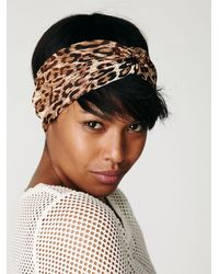 Free People | Natural Leopard Turban | Lyst