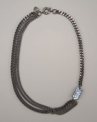 Giles & Brother - Black Multi-chain Chevron Necklace - Lyst