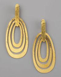 Herve Van Der Straeten - Metallic Triple-ellipse Clip Earrings - Lyst