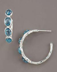 Ippolita   London Blue Topaz Hoop Earrings   Lyst