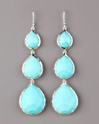 Ippolita | Blue Turquoise Triple Teardrop Earrings | Lyst
