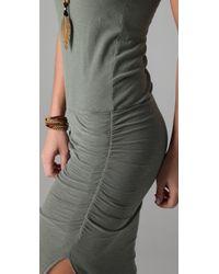 James Perse   Gray Side Split Long Tank Dress   Lyst