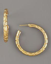 John Hardy - Metallic Gold Kali Hoop Earrings - Lyst