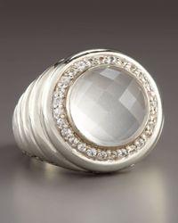 John Hardy | White Bedeg Round Milky Quartz Ring | Lyst