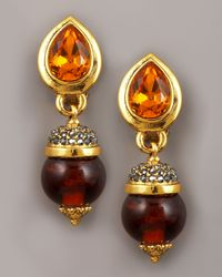 Jose & Maria Barrera | Red Crystal Drop Earrings | Lyst