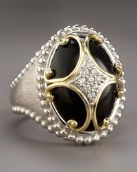 Jude Frances - Metallic Onyx Maltese Cross Ring - Lyst