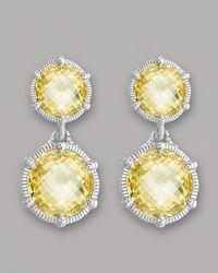 Judith Ripka | Metallic Eclipse Earrings | Lyst