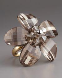 kate spade new york | Metallic Delacorte Flower Ring | Lyst