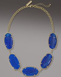 Kendra Scott - Valencia Necklace, Blue Agate - Lyst