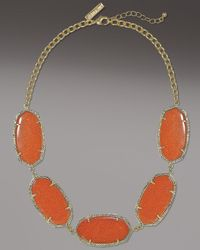 Kendra Scott | Brown Valencia Necklace, Goldstone | Lyst