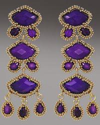Kendra Scott - Metallic Zoe Drop Earrings, Purple Jade - Lyst
