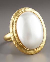 Kenneth Jay Lane - Metallic Simulated Pearl Ring - Lyst