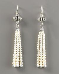 Lagos - Natural Luna Pearl-tassel Earrings - Lyst