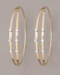 Lana Jewelry | Metallic Diamond Flirt Hoop Earrings | Lyst