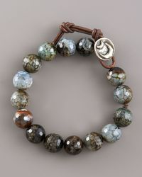 Love Heals | Faceted Black Agate Bracelet | Lyst