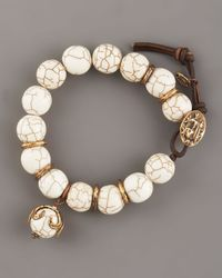 Love Heals - White Magnesite Beaded Bracelet - Lyst