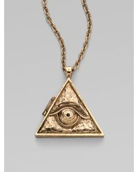 Low Luv by Erin Wasson - Metallic Evil Eye Pendant - Lyst