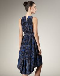 Marc By Marc Jacobs | Blue Printed Silk Dress | Lyst