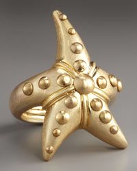 Marc By Marc Jacobs | Metallic Starfish Ring | Lyst