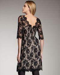 MILLY | Black Celia Lace Dress | Lyst