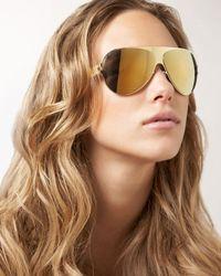 Mykita - Metallic Shield Aviator Glasses - Lyst