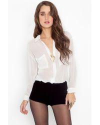 Nasty Gal | Black Velvet Tap Shorts | Lyst