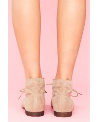 Nasty Gal - Natural Dune Desert Boot - Taupe - Lyst
