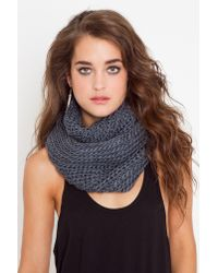 Nasty Gal | Gray Infinity Knit Scarf - Slate | Lyst