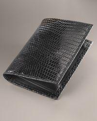 Neiman Marcus | Black Lizard Business Card Case for Men | Lyst