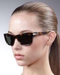 Persol | Black Modified-square Polarized Sunglasses | Lyst