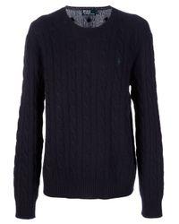 Polo Ralph Lauren | Blue Chunky Knit Jumper for Men | Lyst