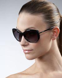 Prada | Brown Oversized Cat Eye Sunglasses | Lyst