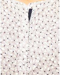 Princesse Tam-Tam - White Scenette Floral Nightshirt - Lyst