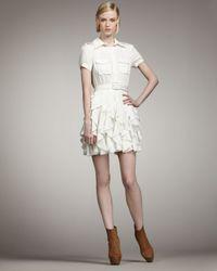 Rachel Zoe | Joplin Ruffle-skirt Dress, Off White | Lyst