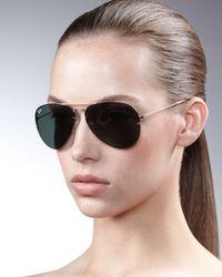 Ray-Ban - Black Light Ray Aviator Sunglasses - Lyst