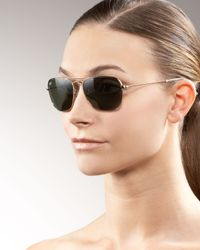 Ray-Ban | Metallic Caravan Aviator Sunglasses | Lyst