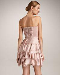 Rebecca Taylor | Natural Eyelash Bustier Dress | Lyst