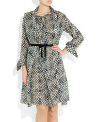 Roland Mouret | Gray Kail Two-piece Cotton-blend Voile Dress | Lyst
