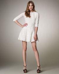 See By Chloé | White Fit-and-flare Lace Dress | Lyst