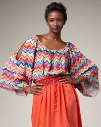 T-bags | Multicolor Zigzag-stripe Top | Lyst