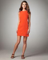 Vince   Orange Silk Shift Dress, Geranium   Lyst