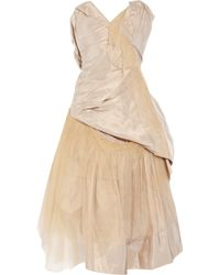 Vivienne Westwood Gold Label | Metallic Bronze Silk-taffeta and Tulle Dress | Lyst