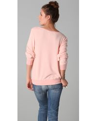 Wildfox - Pink Take Me To St Tropez Baggy Beach Jumper - Lyst