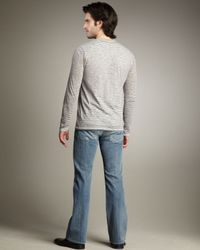 7 For All Mankind - Blue Nate Sangley Point Slim Boot-cut Jeans for Men - Lyst