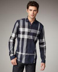 Burberry Brit | White Exploded Check Short-sleeve Shirt for Men | Lyst