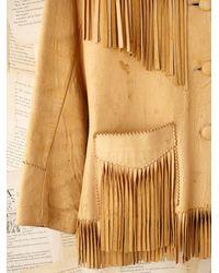 Free People - Natural Vintage Fringe Leather Jacket - Lyst