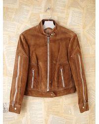 Free People | Brown Vintage Roughout Suede Jacket | Lyst