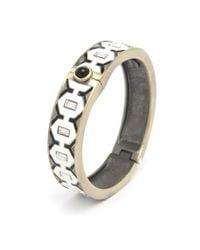 Gerard Yosca | White Preorder Metal Diamond Enamel Hinge Bracelet | Lyst